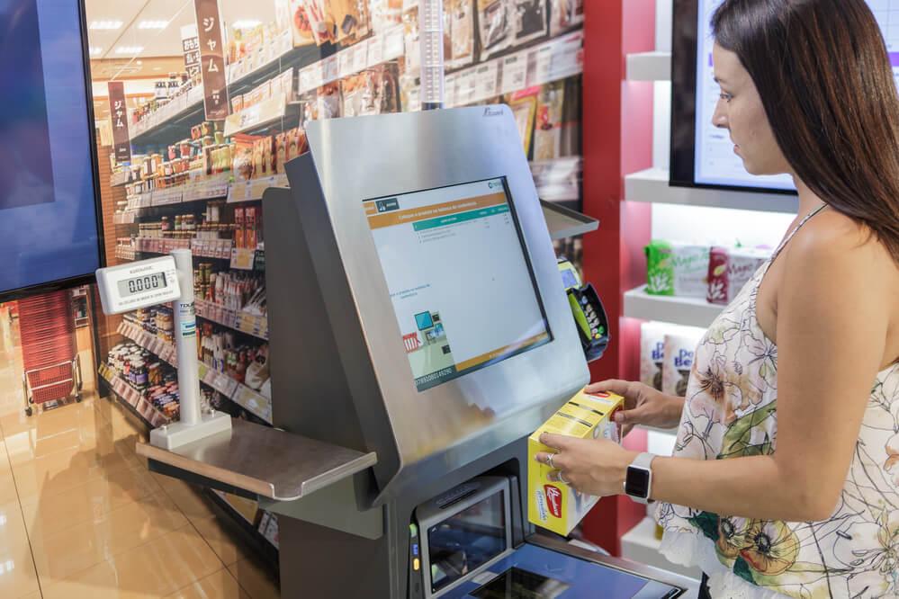 supermarket self checkout system